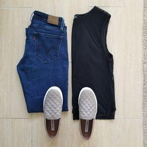 levi's • curvy boot cut jeans •